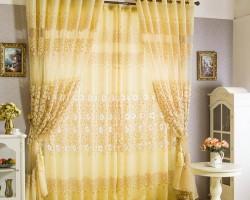 Rèm vải Ô rê màu vàng chanh tươi tắn mã RV 830