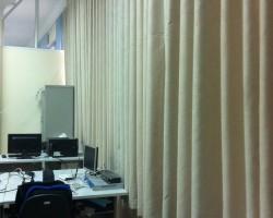 Công trình rèm vải cản sáng tại khu thư viện ĐHBK, quận Hai Bà Trưng, Hà Nội