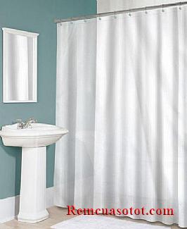 Rèm cửa nhà tắm, rèm tắm sang trọng, chống nước mã RPT 005