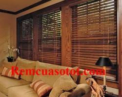 Rèm gỗ tự nhiên cao cấp cho phòng khách sang trọng mã RG 121