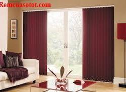 Rèm lá dọc màu nâu, rèm đẹp cho phòng khách mã RLD 119