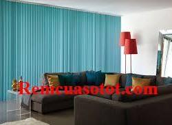 Rèm lá dọc phòng khách màu xanh tươi mới, mát lành mã RLD 123