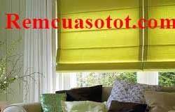 Rèm Roman phòng khách màu vàng chanh đầy sức sống mã RM 841