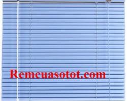 Rèm sáo nhôm màu xanh da trời mát mẻ cho cửa sổ mã RSN 114