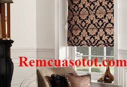 Rèm xếp lớp, rèm Roman đẹp cho phòng khách mã RM 834