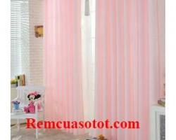 Rèm vải cửa sổ màu trắng lịch lãm thướt tha mã RV 844