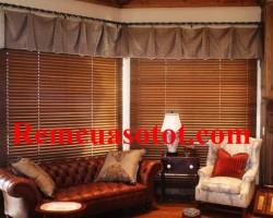 Rèm gỗ phòng khách sang trọng và đẳng cấp mã RG 124