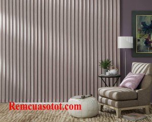 Rèm lật cửa chính màu hồng sen ngọt ngào lãng mạn mã RLD 135
