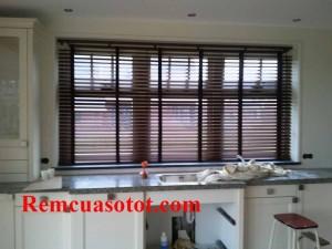 Màn sáo gỗ cản sáng, chống nắng cho nội thất dịu mát mã RG 141