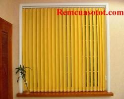 Rèm lá dọc màu vàng chanh quyến rũ hấp dẫn mã RLD 137