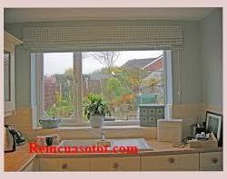 Rèm Roman giá rẻ vàng ca rô cho phòng bếp đầm ấm, no đủ mã RM 855