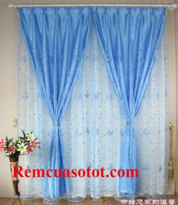 Rèm vải chống nắng màu xanh ngọt ngào say đắm mã RV 860