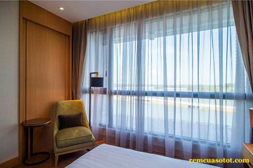 Rèm cửa bằng vải cho cửa sổ đẹp mã RV 867