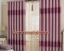 Rèm vải phòng khách đẹp sang trọng giá rẻ mã RV8018