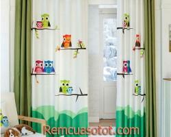 Rèm vải phòng ngủ trẻ em gái dễ thương mã RV811