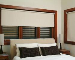 Rèm cuốn màu trắng hiện đại ưa chuộng cho phòng ngủ mã RC 815