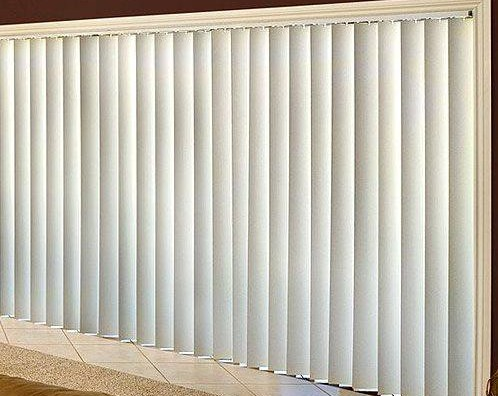 Rèm lá dọc màu trắng cho văn phòng mã RLD 107