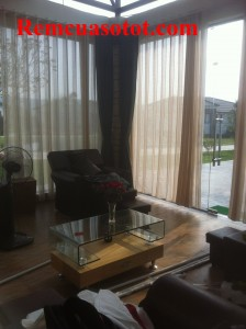 Công trình thi công rèm vải cao cấp cho khu biệt thự nghỉ dưỡng Đại Lải Resort 10