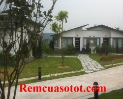 Công trình thi công rèm vải cao cấp cho khu biệt thự nghỉ dưỡng Đại Lải Resort