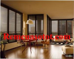 Màn sáo gỗ là mẫu rèm cửa sổ đẹp đẳng cấp sang trọng mã RG 123