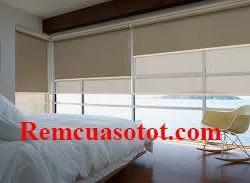 Rèm cuốn xanh rêu phòng ngủ tự nhiên mộc mạc mã RC 831