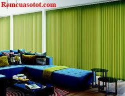 Rèm lá dọc màu xanh lá cho phòng khách đầy sức sống mã RLD 118