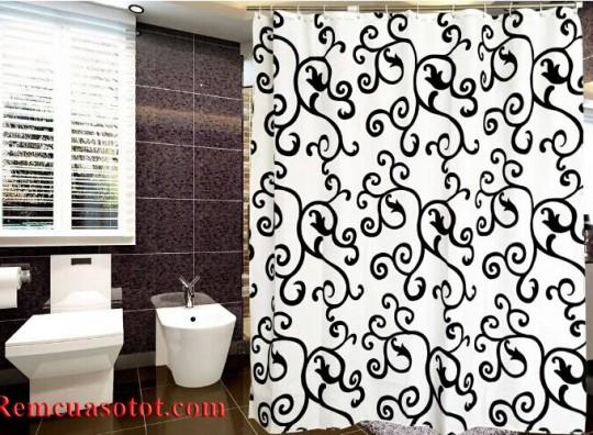 Rèm nhà tắm, màn treo phòng tắm sang trọng, đẳng cấp mã RPT 006