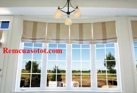 Rèm Roman cho cửa sổ kiểu ghi sọc thời thượng mã RM 837