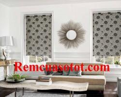 Rèm Roman phòng khách xu hướng cho nội thất năm nay mã RM 838