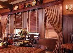 Rèm sáo gỗ, mành gỗ cho phòng ăn cổ điển mã RG 120