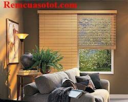 Rèm sáo gỗ tự nhiên giá rẻ dành cho phòng khách mã RG 114