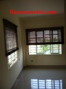 Thi công rèm gỗ bản 5cm cho chung cư 141 Trương Định, Hoàng Mai, Hà Nội 2