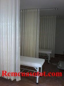 Thi công rèm vải cho khu Spa ở Dương Quảng Hàm, Cầu Giấy, Hà Nội 2