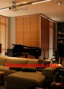 Màn sáo gỗ sang trọng đẳng cấp cho phòng khách mã RG 127
