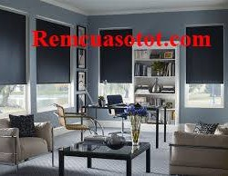 Rèm cuốn phòng khách màu tím tràn đầy cá tính mã RC 834