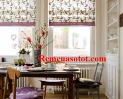 Rèm Roman cho cửa sổ nhỏ gọn gàng mát mẻ mã RM 844