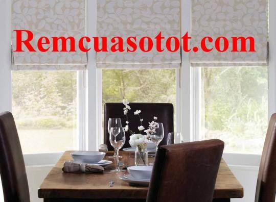 Rèm Roman phòng ăn đẹp gọn gàng cuốn hút mã RM 843