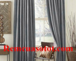 Rèm vải màu ghi tạo cơn sốt thời trang mành rèm mã RV 848