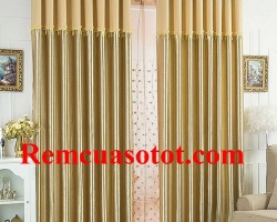 Rèm vải phòng khách màu đồng mạnh mẽ nồng nhiệt mã RV 849