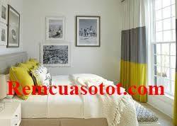 Rèm vải phòng ngủ ba màu vàng ghi trắng sành điệu mã RV 850