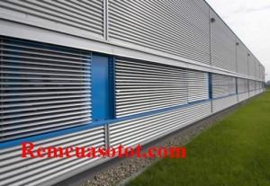 Mành sáo nhôm cho nhà xưởng khu công nghiệp mã RSN 130