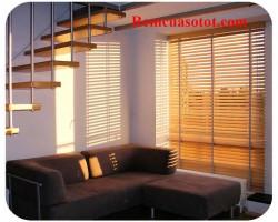 Rèm gỗ phòng khách đẹp sang trọng tại Hà Nội mã RG 138