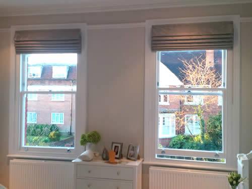 Rèm xếp lớp phong cách cho cửa sổ đẹp mã RM 857