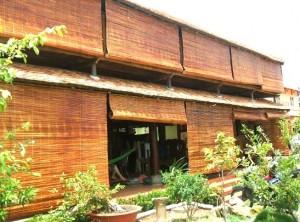 Mành trúc, rèm trúc treo hành lang tại Hà Nội